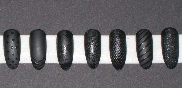 diy matte and shiny polish nail art