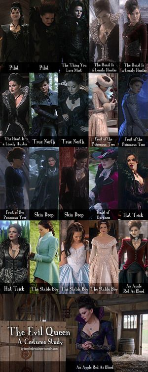 Once Upon a Time Evil Queen Costumes | THE VIRTUE OF BEING, Once Upon A Time - Evil Queen: A Costume Study