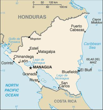Best Nicaragua In Central America Images On Pinterest Central - Nicaragua map hd