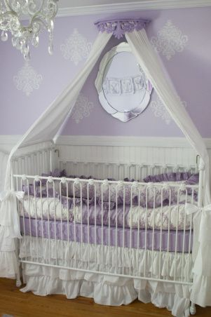 Averys 50 Shades Of Purple Nursery A Pretty Room Lovingly Created For Our Second Daughter Avery Violet Nurseries Desi Aning Baby