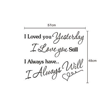 Woorden Always Love You muurstickers - EUR € 19.99