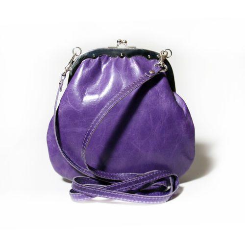 """Handtasche """"Greetje Crunch Purple"""" von Cellarrich - Lila"""