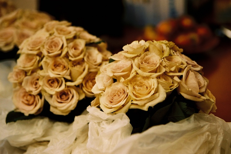 Stunning bouquets of antique roses. Flowers and styling by Victoria Whitelaw Beautiful Flowers.