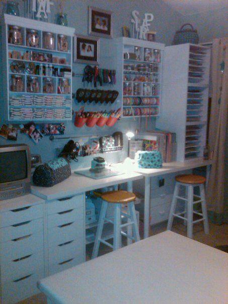 My Fun Space - Scrapbook.com: Crafts Area, Idea, Organizations Crafts, Crafts Rooms, Crafts Spaces, Ikea Drawers, Scrapbook Rooms, Fun Spaces, Craft Rooms