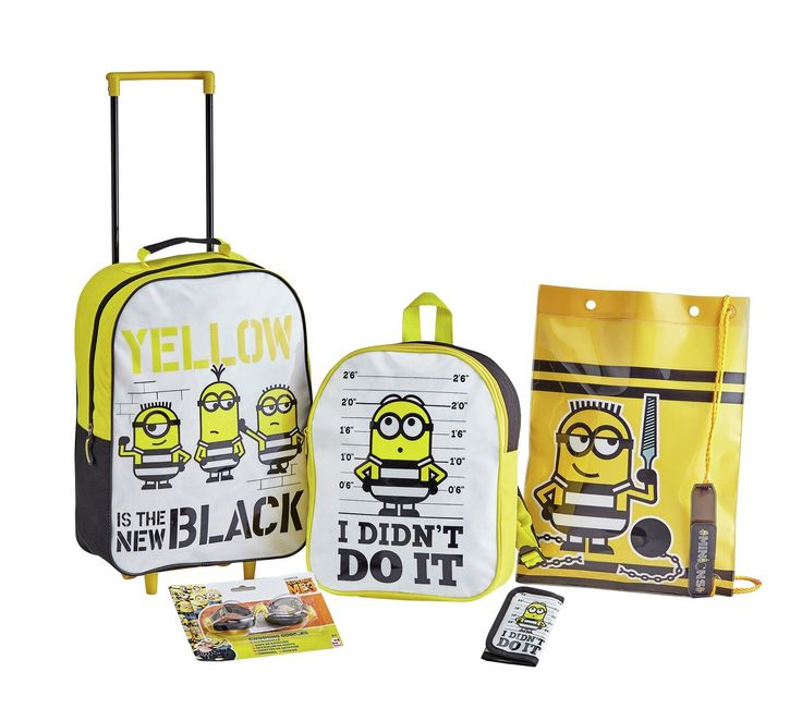 Buy Universal Minions 5 piece Luggage Set at Argos.co.uk, visit Argos.co.uk to shop online for Childrens luggage, Bags, luggage and travel, Sports and leisure