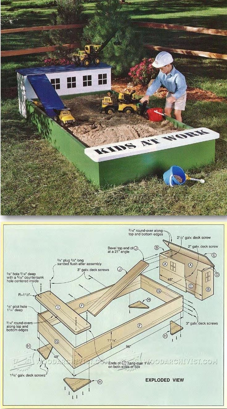 Build Sandbox - Children's Outdoor Plans and Projects | WoodArchivist.com