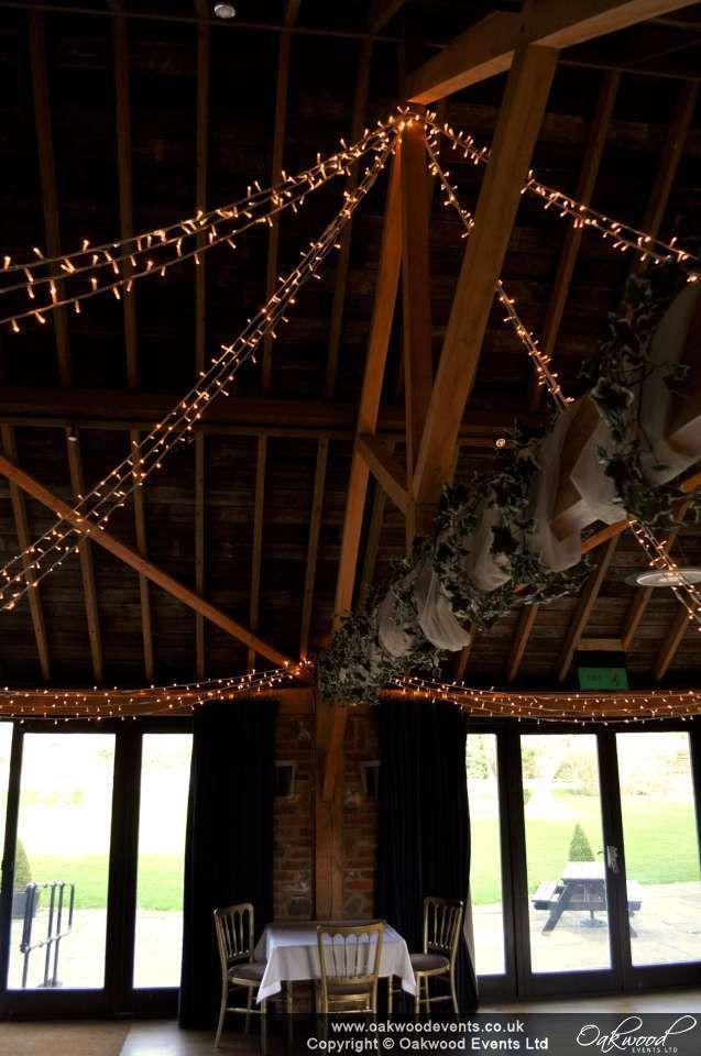 Fairy light star in the Garden Room