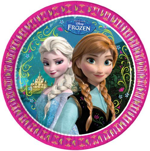 WWW.PARTYTIME-SHOP.IT | PIATTI FESTA A TEMA DISNEY FROZEN 23CM 8PZ