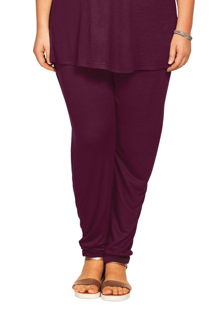 Soft Knit Elastic Waist Pants by Ellos® - Women's Plus Size Clothing