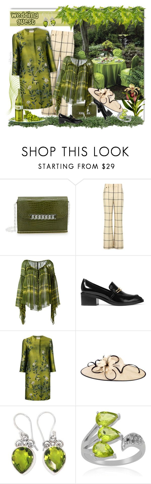 """""""Oh So Stylish Wedding Guest"""" by pwhiteaurora ❤ liked on Polyvore featuring Charlotte Olympia, Chloé, Plein Sud, Sigerson Morrison, 'S MaxMara, San Diego Hat Co. and NOVICA"""