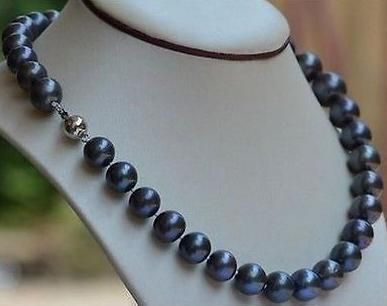 Cheap akoya pearl necklaces, Buy Quality pearl necklace directly from China akoya pearls Suppliers: Hot sell natural 10-11mm black blue akoya pearl necklace 18 inch 925 silver clasp