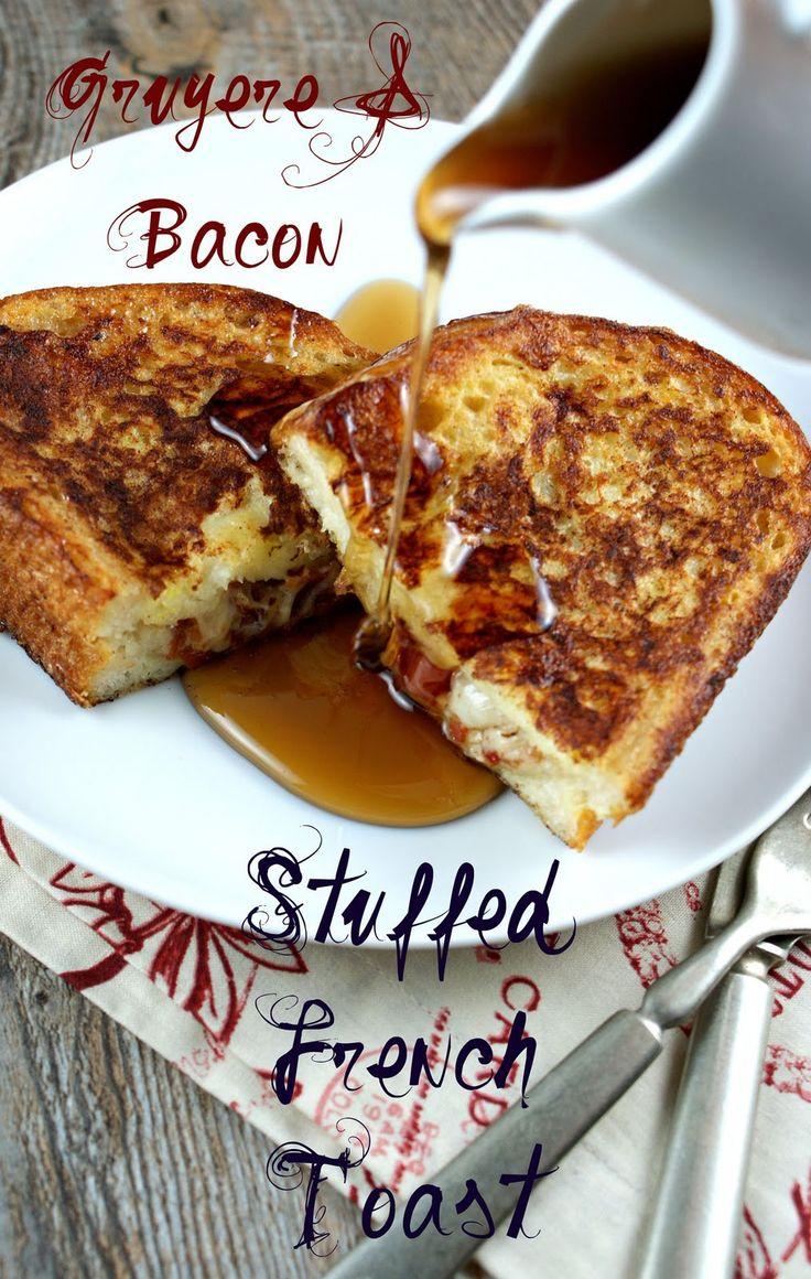 Gruyere & Bacon Stuffed French Toast via Authentic Suburban Gourmet