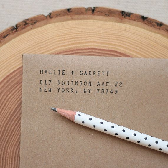 A custom address stamp is a great housewarming present. #EtsyCustom