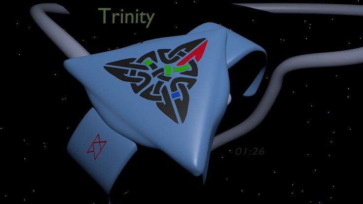 LED watch based on the Celtic Trinity symbol 08