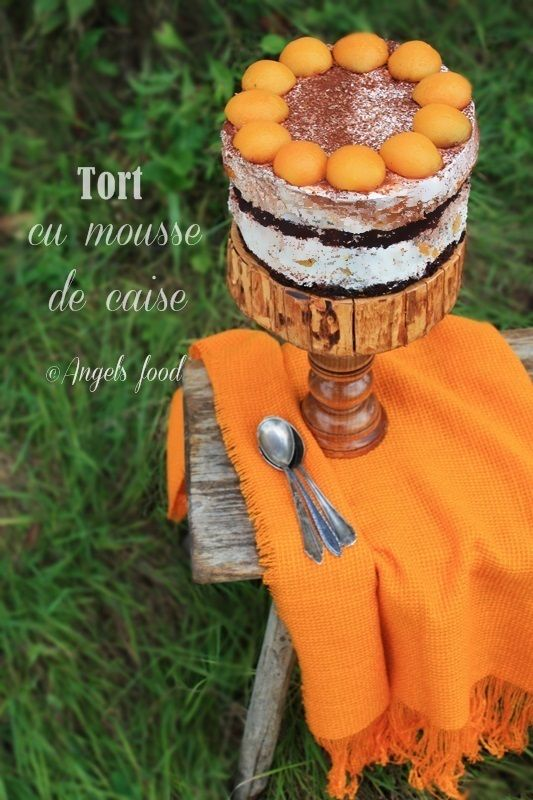 Angel's food: Tort cu mousse de caise si mascarpone