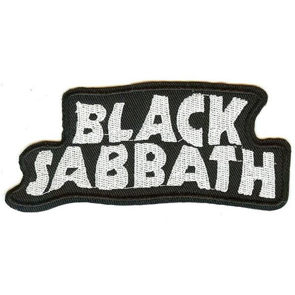 Black Sabbath Iron-On Patch White Letters Logo ❤ liked on Polyvore featuring patches, fillers, fillers - black, decor, misc, text, phrase, quotes and saying