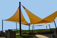 Vela de sombra 5.0x5.0x5.0 m Triángulo Combinación Shade Tela PU Recubierto De Tela Impermeable Al Aire Libre Durable 5.0x5.0x5.0 m(China (Mainland))