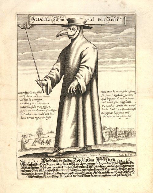 The Black Death Plague Doctor: A plague doctor was a special medical physician who saw those who had the Bubonic Plague. In the seventeenth and eighteenth centuries, some doctors wore a beak-like mask which was filled with aromatic items. The masks were designed to protect them from putrid air, which (according to the miasmatic theory of disease) was seen as the cause of infection. From the anarchist's coloring book.