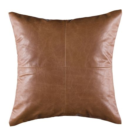Leather Cushion 50x50cm For Real Living Tan #reallivingxfreedom