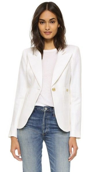 Kate Middleton's Smythe blazer in white