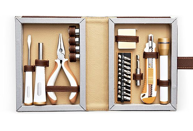 FATHER'S DAY GIFTS  Tool Set  WILOUBY INTERNATIONAL    $45.00: Leather Tools, Tools Sets, Father'S Day Gifts, Gifts Ideas, Travel Tools, One King Lane, Onekingslane Com, Father Day Gifts, 22Pc Tools
