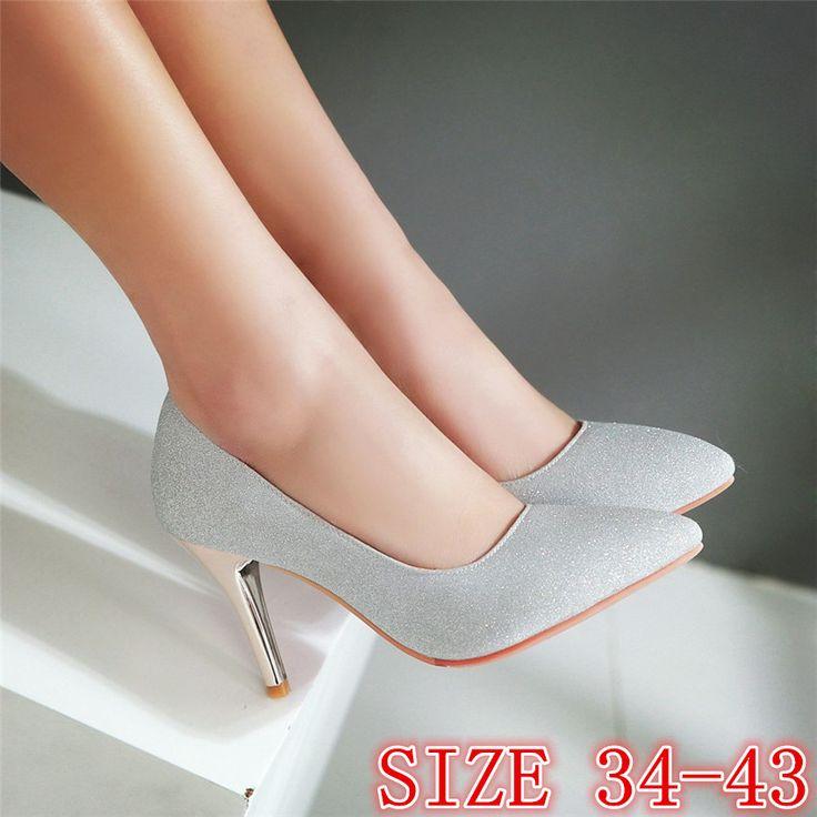 High Heels Ladies High Heel Shoes Women Pumps Stiletto Woman Party Wedding Shoes Kitten Heels Plus. Click visit to buy #WomenHighHeels