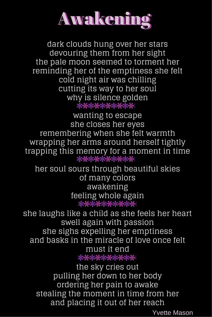 Killing Yourself Quotes Awakening Poem Poetry  Pinterest  Poem