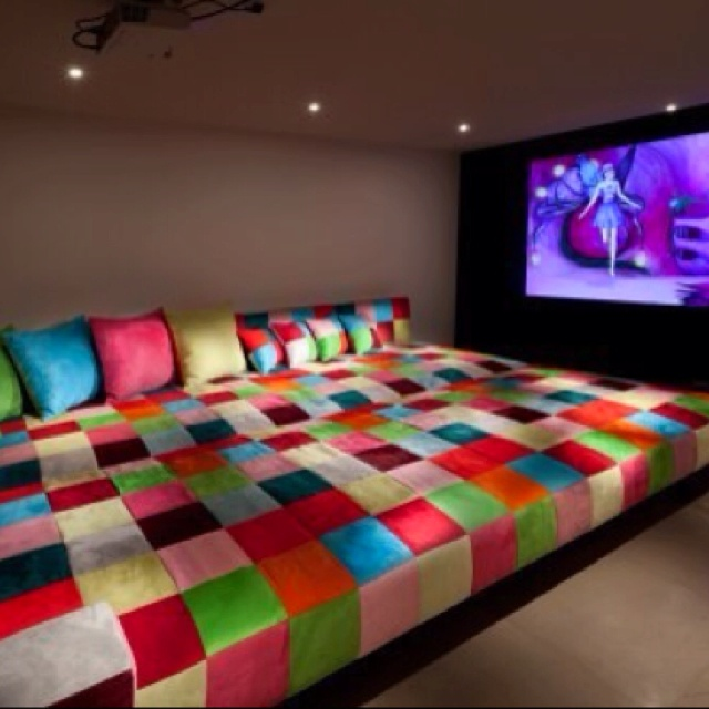15 Awesome Basement Home Theater Cinema Room Ideas: Ultimate Sleepover Room! This Is What We Need