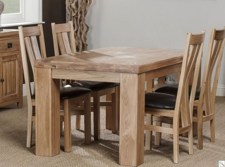 oregan 150cm chunky solid oak table with 4 colorado chairs