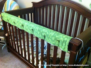 Do-It-Yourself Danielle: Getting Baby to Sleep and a Crib Teething Guard, make your own crib teething guard, chamomile tea to help baby sleep