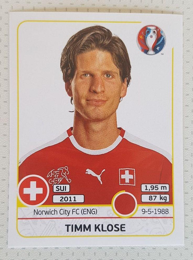 PANINI Sticker Nr. 106 - Timm Klose EURO 2016 France Switzerland