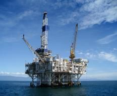 An ocean engineer may work on an offshore oil rig.