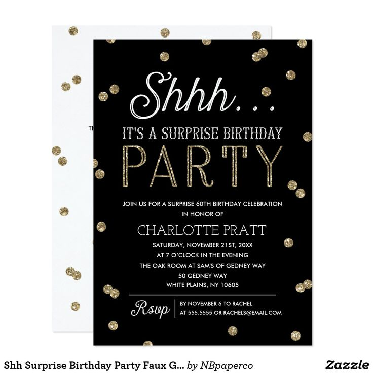 60 best Surprise Party Invitations images on Pinterest