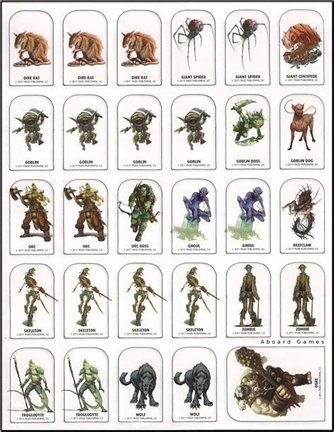 Refreshing image throughout d&d printable monster tokens