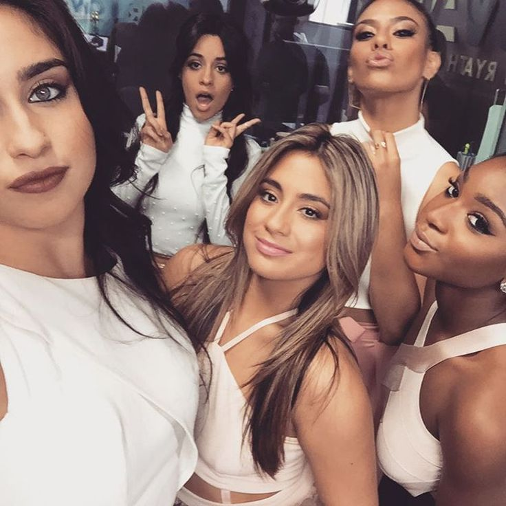 Fifth Harmony - this shows them all wearing white which links them together but they are all wearing slightly different things. They are all well dressed and look feminine to show who they are as people and as a girl group.
