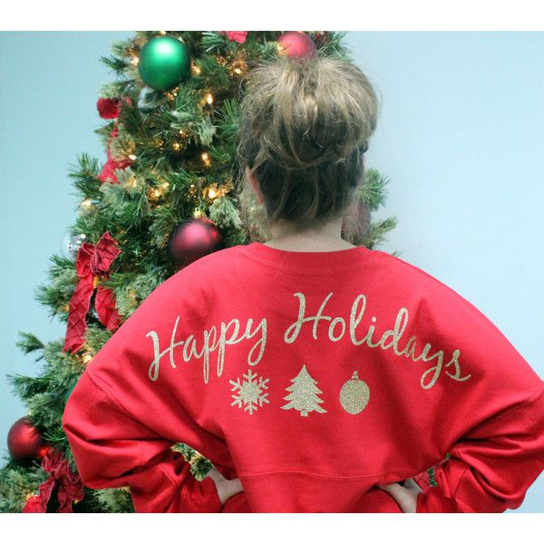 Holiday Jersey Happy Holidays Holiday Gift Gift for Her Jersey Preppy... ($39) ❤ liked on Polyvore featuring tops, t-shirts, red, women's clothing, monogram t shirts, matte jersey, jersey tee, preppy t shirts and red t shirt