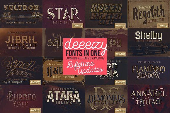 Deeezy ALL Fonts in ONE pack by deeezy on @creativemarket