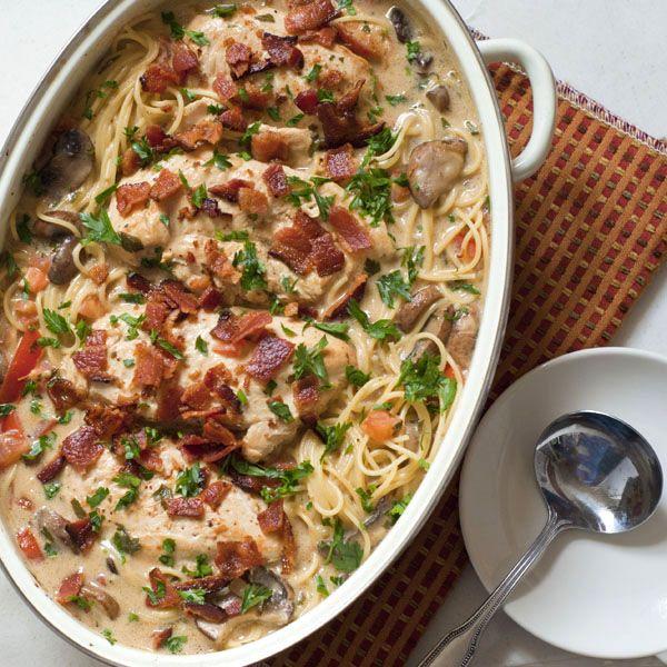 Smothered Chicken Casserole | heatherlikesfood.com