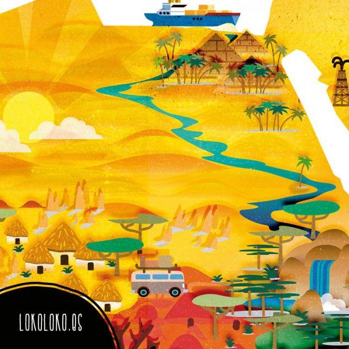 Imagen detalle del diseño de vinilo mapamundi / Detail image of worldmap vinyl design. #vinilomapas #lokolokodecora