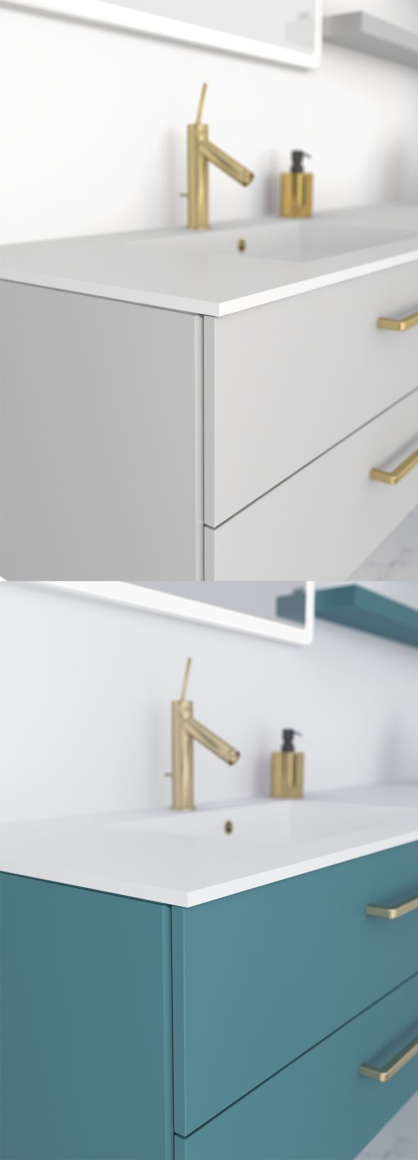 Get your bathroom furniture custom-lacquered in exactly the colour you want.