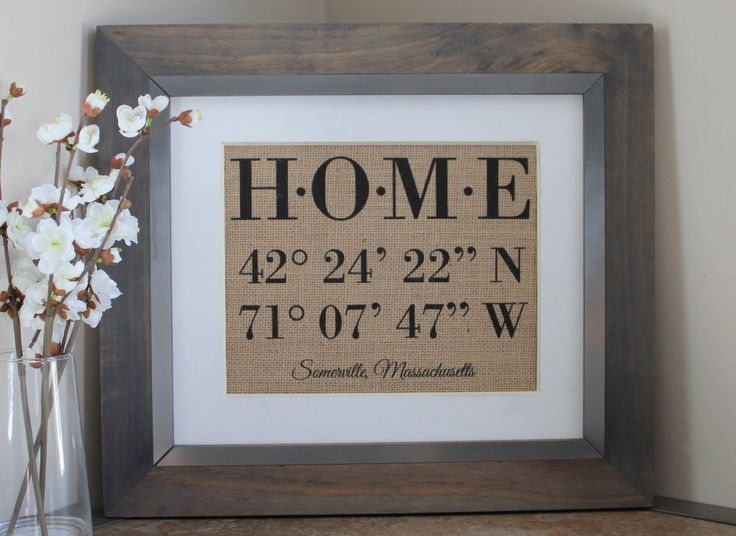 Latitude Longitude Sign | House Warming Gift | Bridal Shower Gift | Wedding Gift | Home Decor Sign | New Home Housewarming | GPS Coordinates by EmmaAndTheBean on Etsy https://www.etsy.com/listing/245914064/latitude-longitude-sign-house-warming