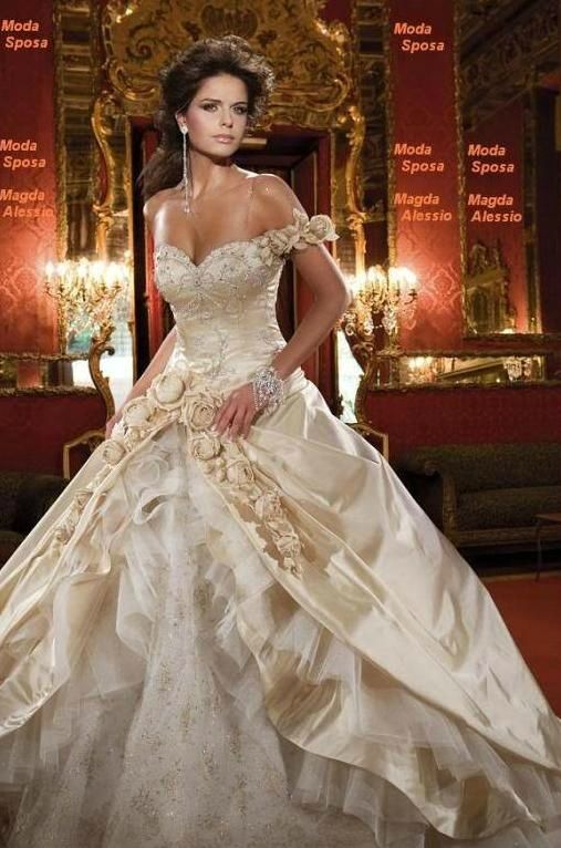 robe de marie champagne - Robes Orientales Mariage