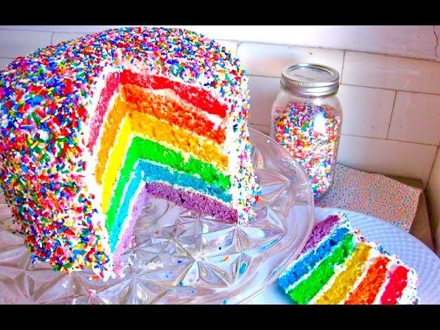 DIY 6 LAYER RAINBOW SPRINKLE CAKE (With Marlin Chan and Alex Mandel)