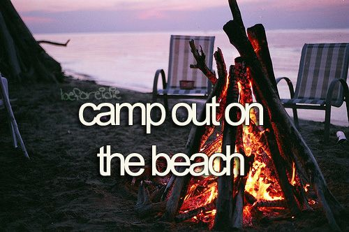 party on the beach all night with friends