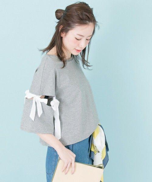 【ZOZOTOWN|送料無料】URBAN RESEARCH(アーバンリサーチ)のTシャツ/カットソー「 UR 袖リボンカットソー 」(UR75-21O002)を購入できます。