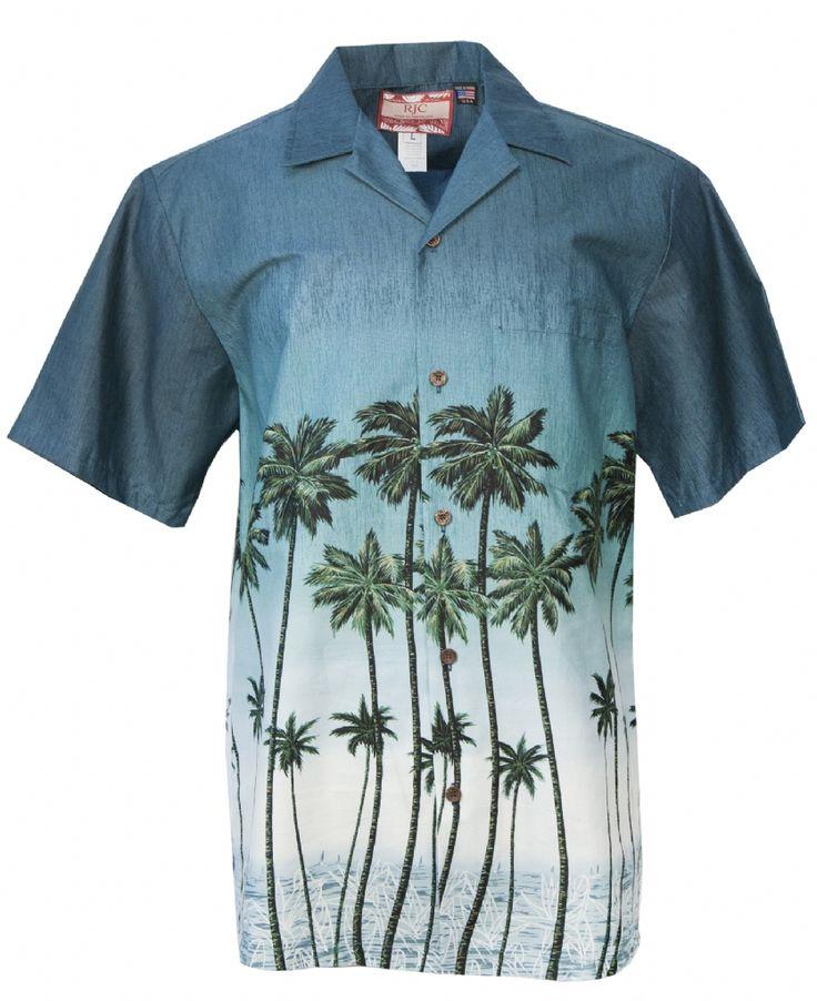 Summer Breeze Mens Hawaiian Aloha Shirt in Aqua, Mens Hawaiian Shirts Clothing, 109-1156-Aqua