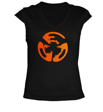 Camiseta Manga Corta Cuello V, Logo Rockenportada.com