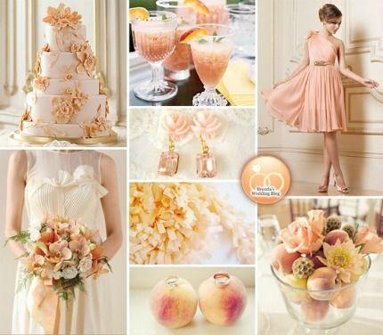 peach... that's an idea: Wedding Inspiration, Bride Grooms, Color Schemes, Bridesmaid Dresses, Wedding Ideas, Peaches Wedding, Inspiration Boards, Theme Wedding, Georgia Peaches