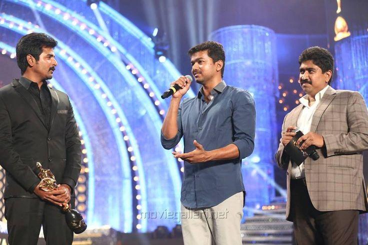 Vijay and Sivakarthikeyan in Vijay Award 2014