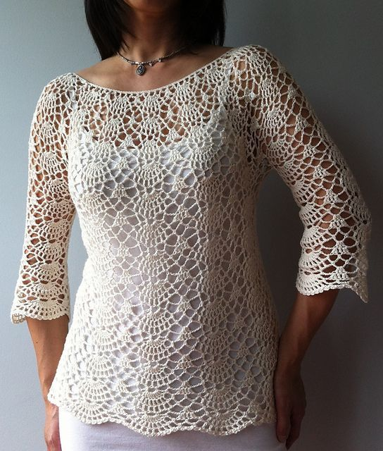 Lacy+Shell+Crochet+Pattern | Ada - lacy shells top by Vicky Chan